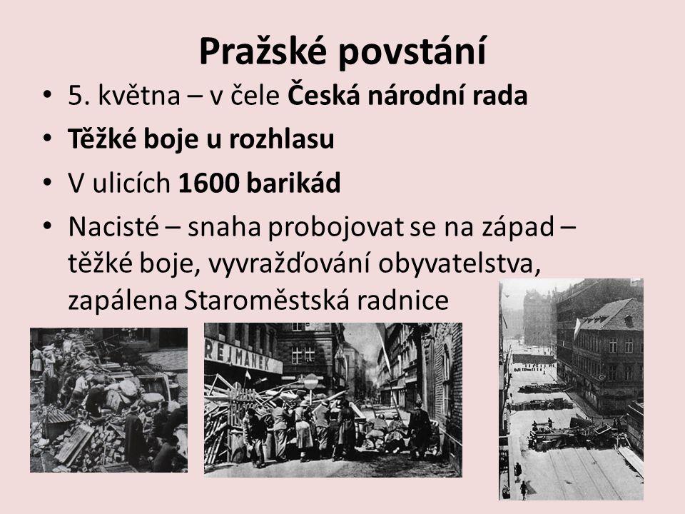 Pražské povstání 5. května – v čele Česká národní rada