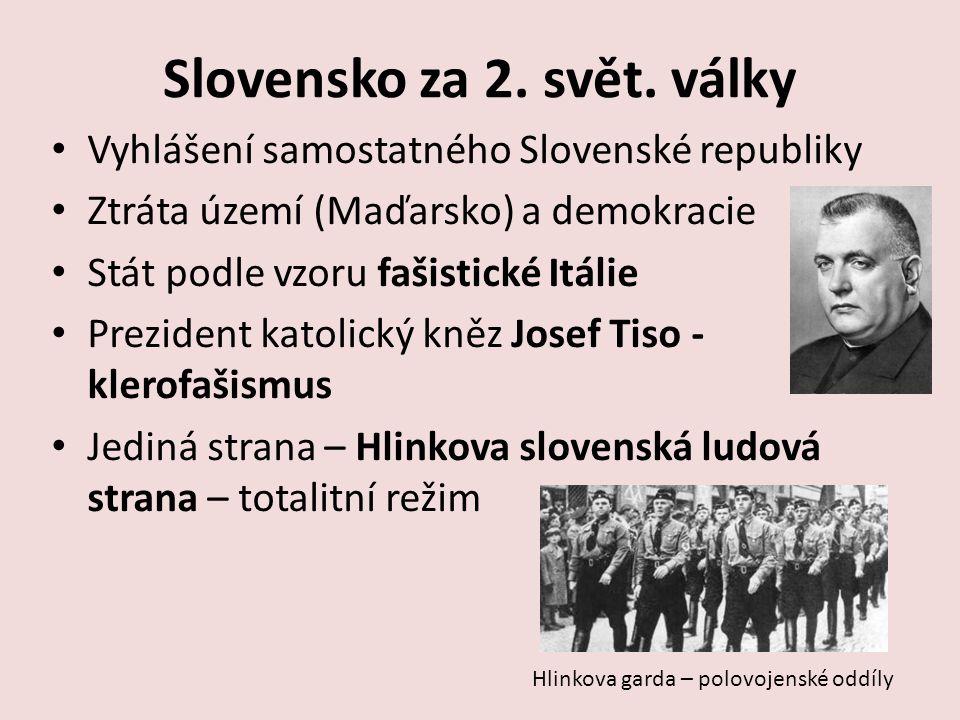 Slovensko za 2. svět. války