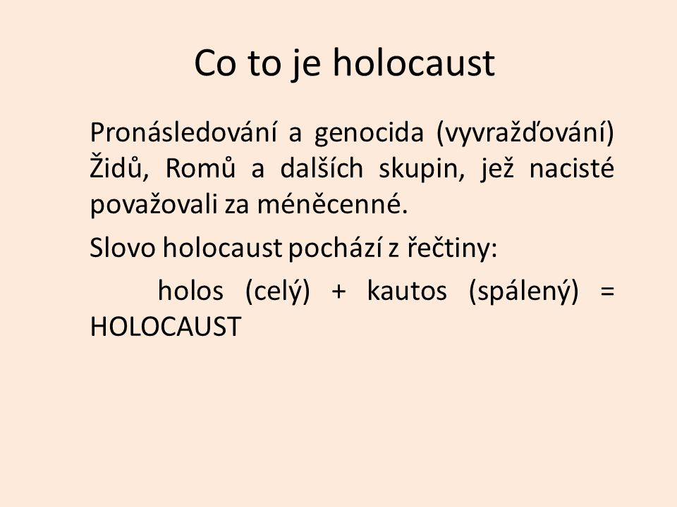 Co to je holocaust