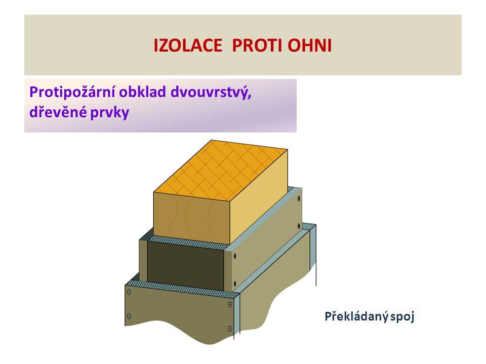 Izolace proti ohni Protipožární obklad dvouvrstvý, dřevěné prvky