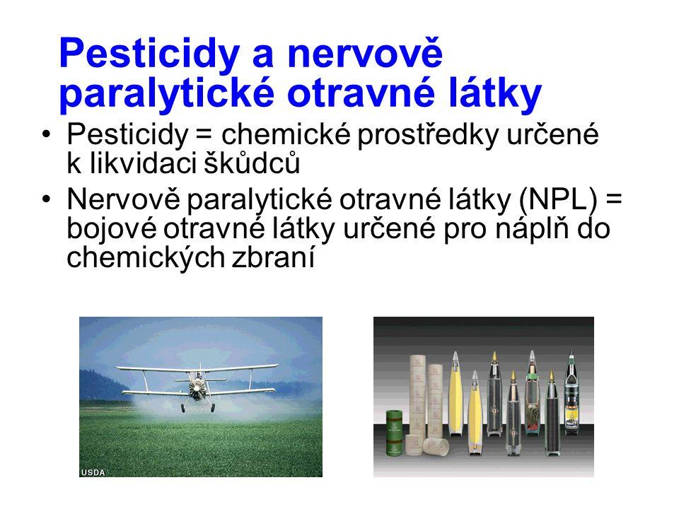 Pesticidy a nervově paralytické otravné látky