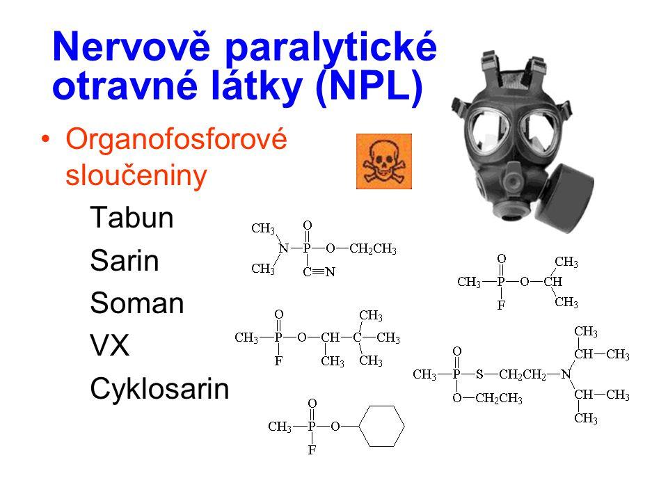 Nervově paralytické otravné látky (NPL)