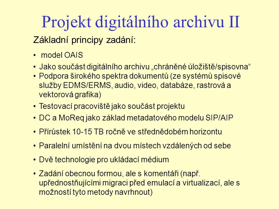 Projekt digitálního archivu II