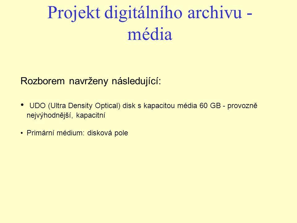 Projekt digitálního archivu - média