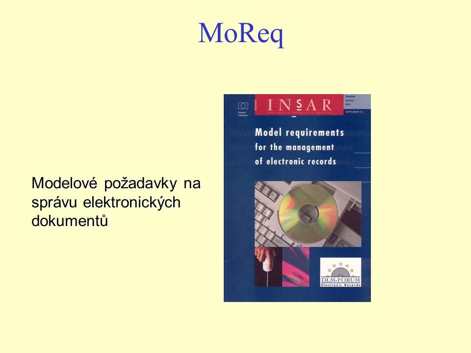 MoReq Modelové požadavky na správu elektronických dokumentů