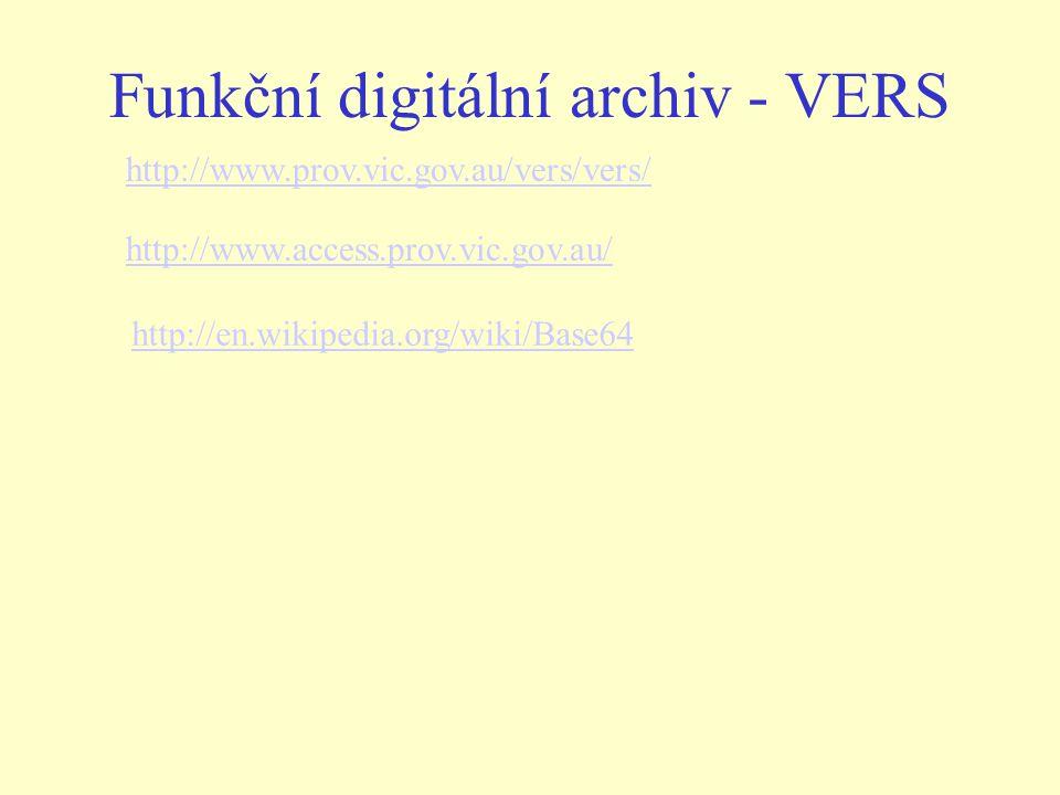 Funkční digitální archiv - VERS