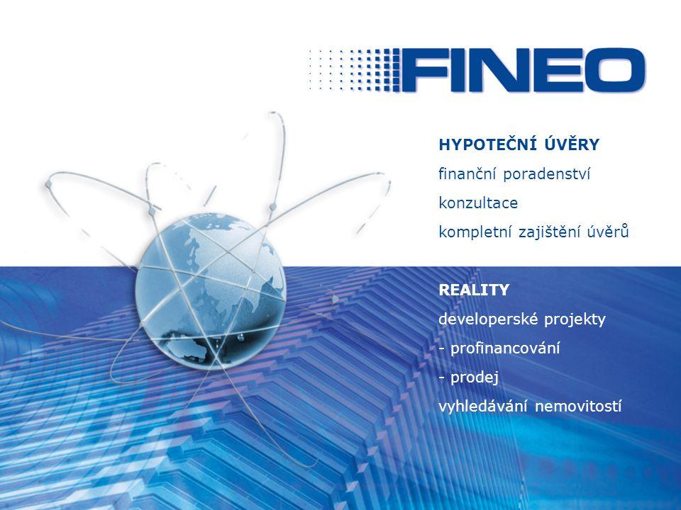 HYPOTEČNÍ ÚVĚRY finanční poradenství. konzultace. kompletní zajištění úvěrů. REALITY. developerské projekty.