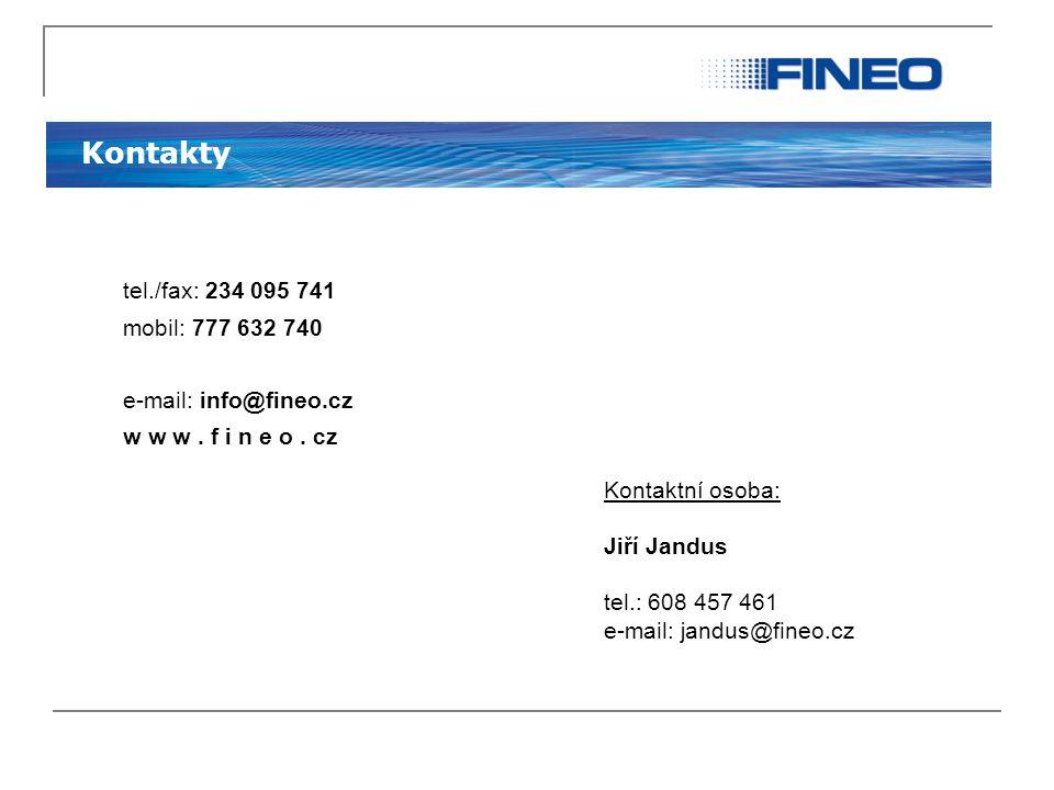 Kontakty tel./fax: 234 095 741 mobil: 777 632 740