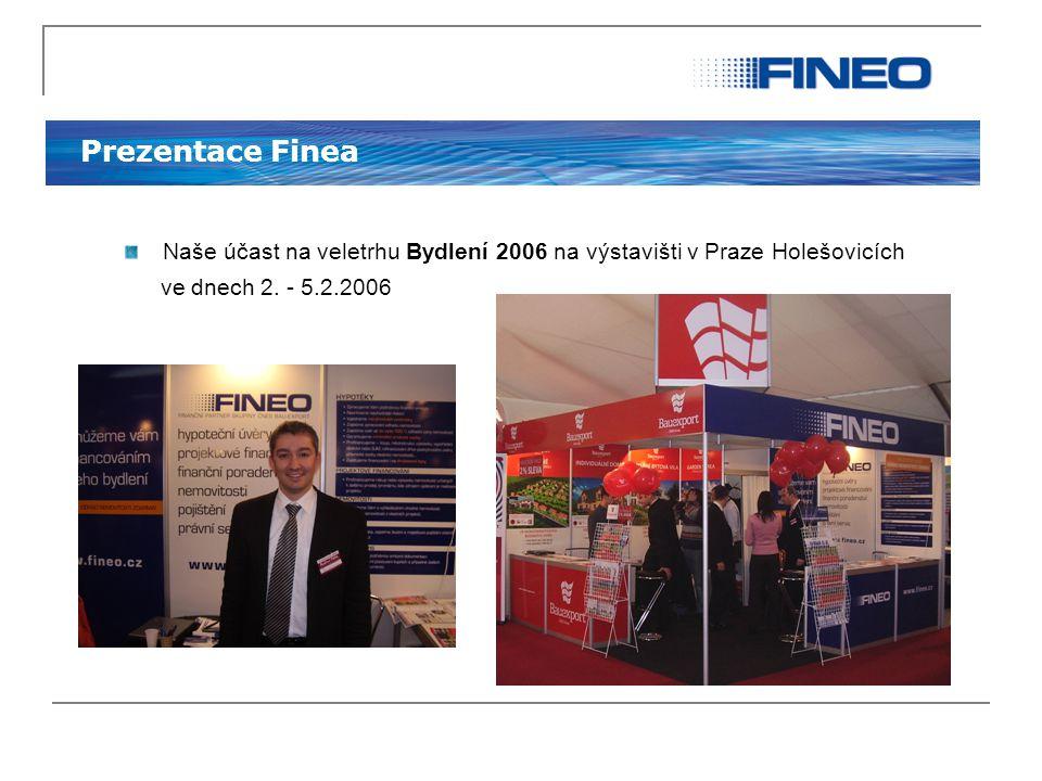 Prezentace Finea Naše účast na veletrhu Bydlení 2006 na výstavišti v Praze Holešovicích.