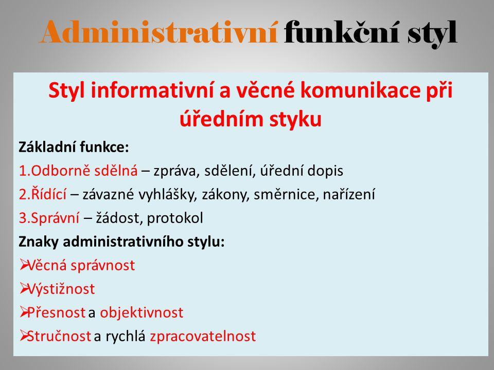 Administrativní funkční styl