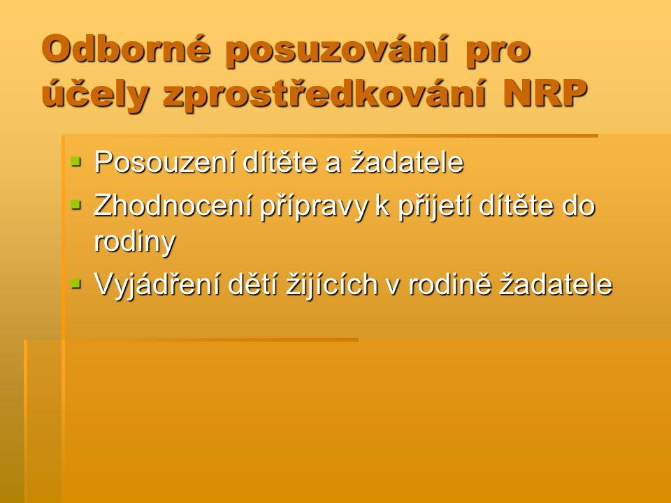 Odborné posuzování pro účely zprostředkování NRP