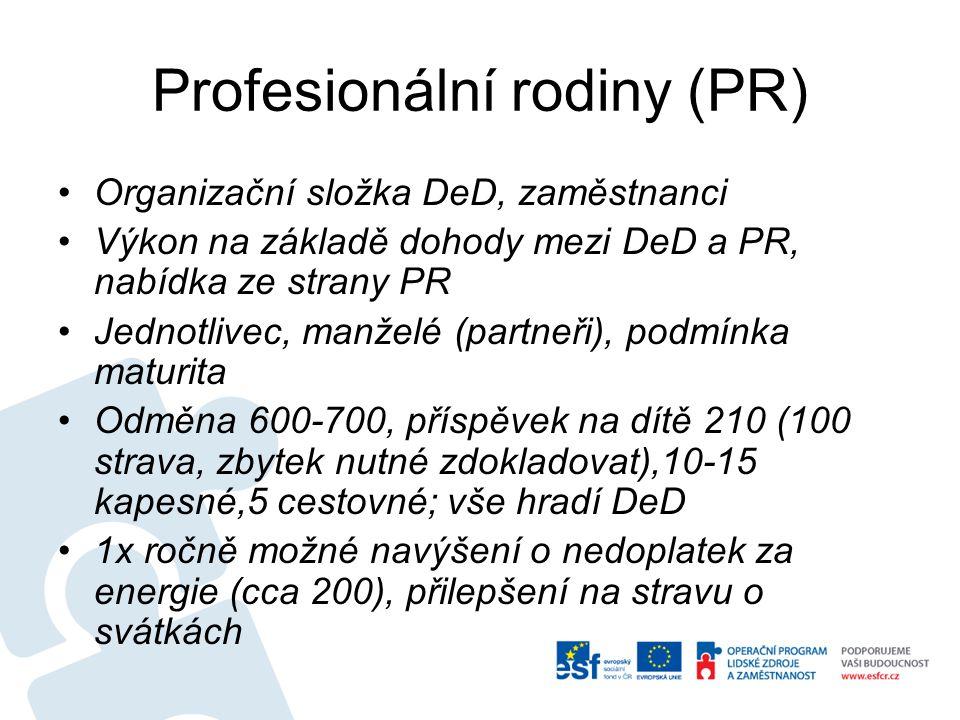 Profesionální rodiny (PR)