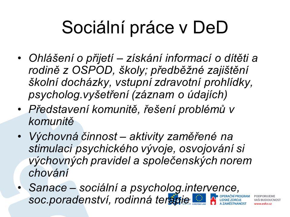 Sociální práce v DeD