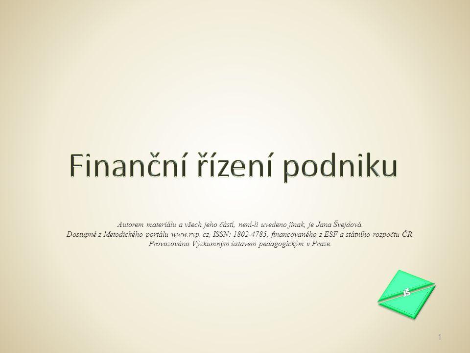 Finanční řízení podniku