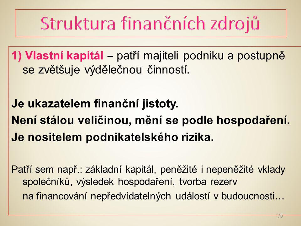 Struktura finančních zdrojů