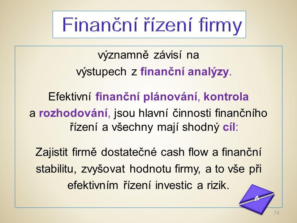 Finanční řízení firmy