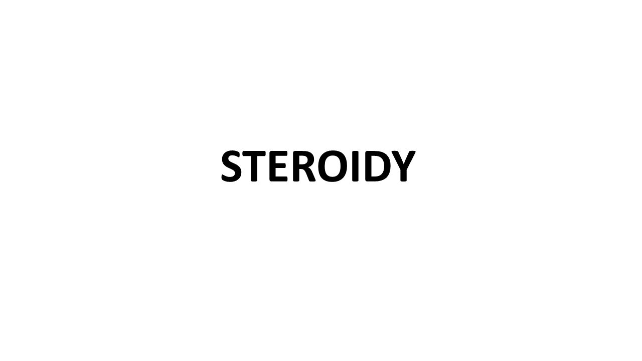 STEROIDY