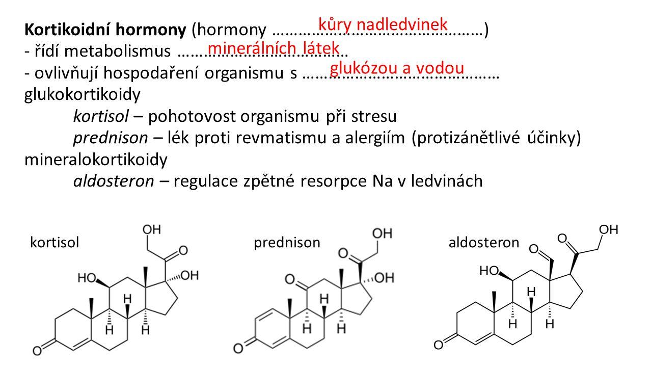 Kortikoidní hormony (hormony …………………………………………)