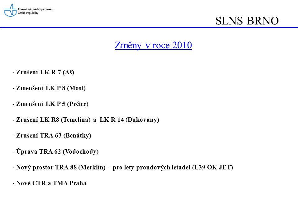 SLNS BRNO Změny v roce 2010 Zrušení LK R 7 (Aš) Zmenšení LK P 8 (Most)