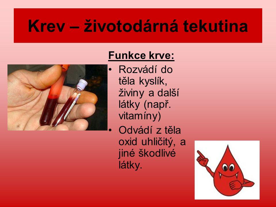 Krev – životodárná tekutina