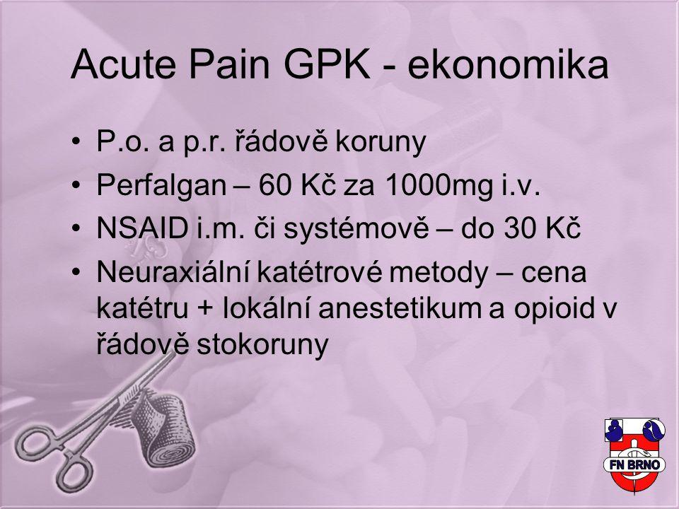 Acute Pain GPK - ekonomika