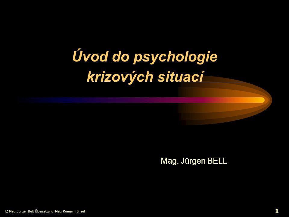 Úvod do psychologie krizových situací