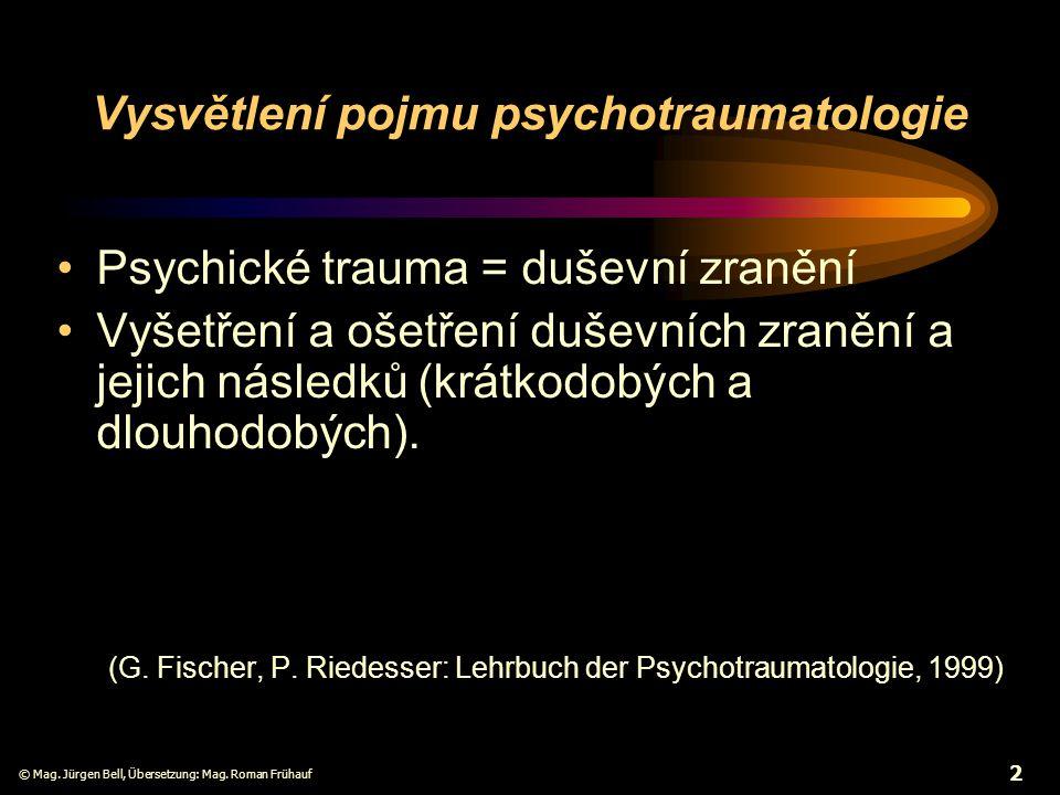 Vysvětlení pojmu psychotraumatologie