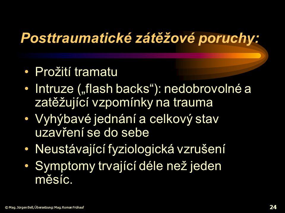 Posttraumatické zátěžové poruchy: