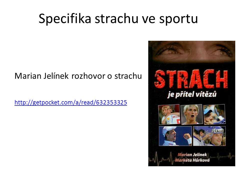 Specifika strachu ve sportu