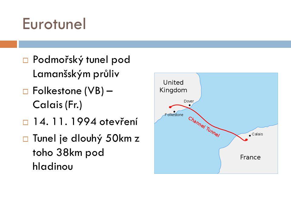 Eurotunel Podmořský tunel pod Lamanšským průliv