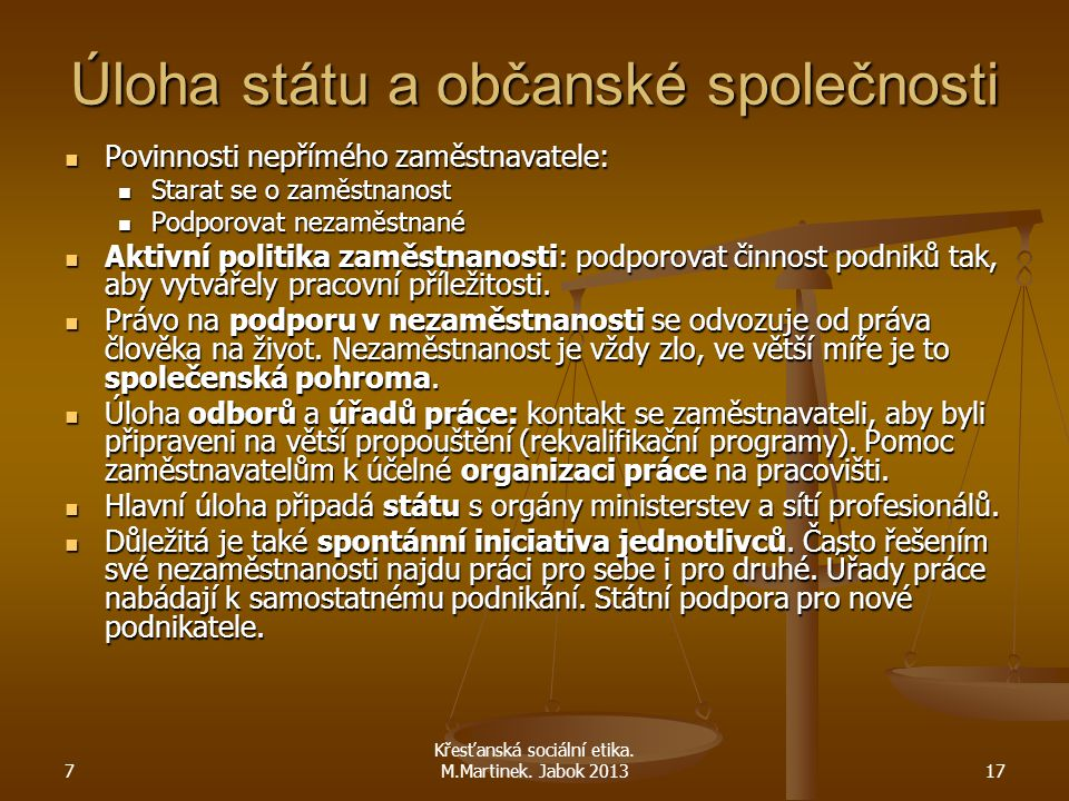 Úloha státu a občanské společnosti