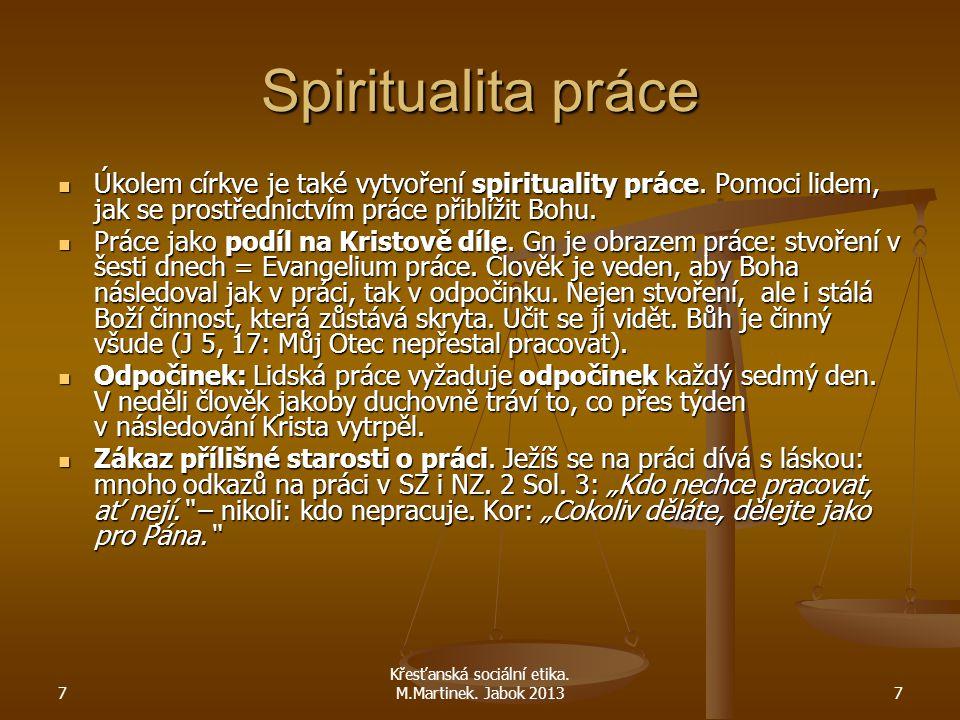 Křesťanská sociální etika. M.Martinek. Jabok 2013