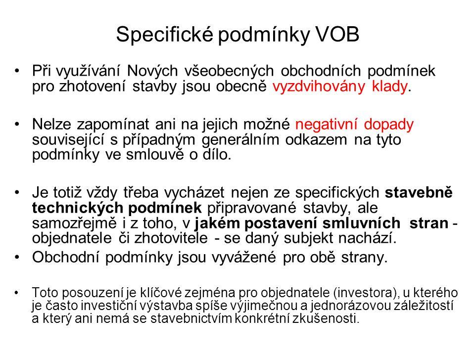 Specifické podmínky VOB