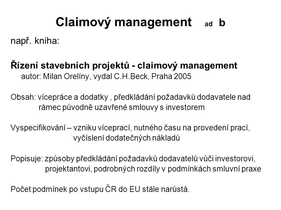 Claimový management ad b
