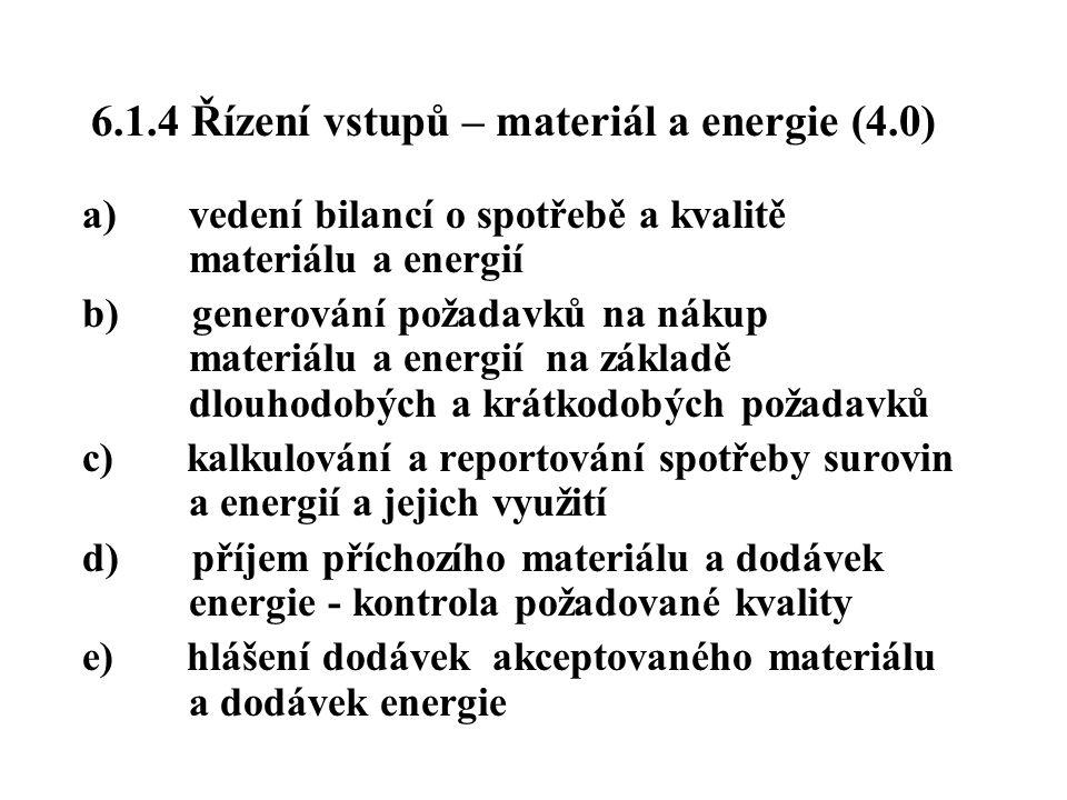6.1.4 Řízení vstupů – materiál a energie (4.0)