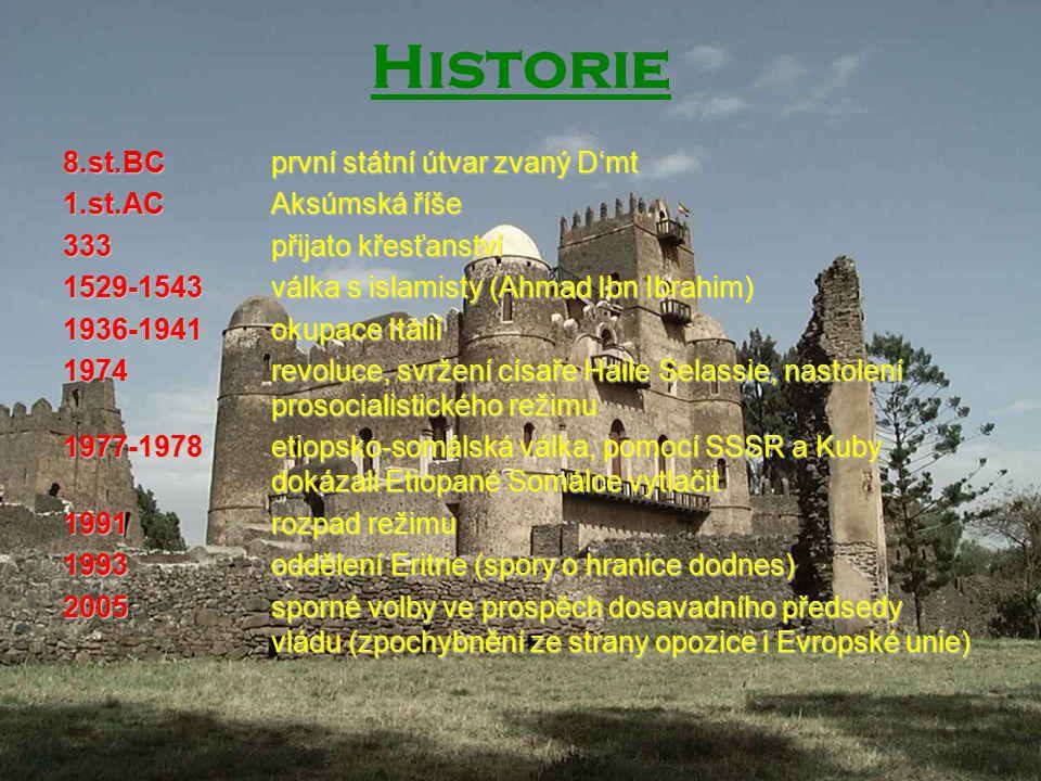 Historie 8.st.BC první státní útvar zvaný D'mt 1.st.AC Aksúmská říše