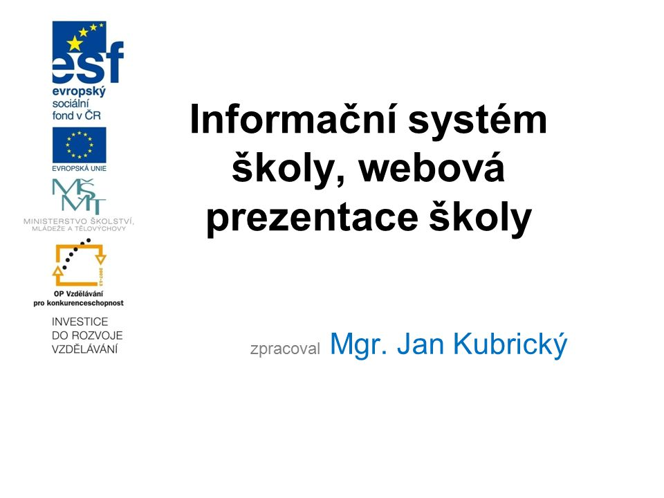 Informační systém školy, webová prezentace školy
