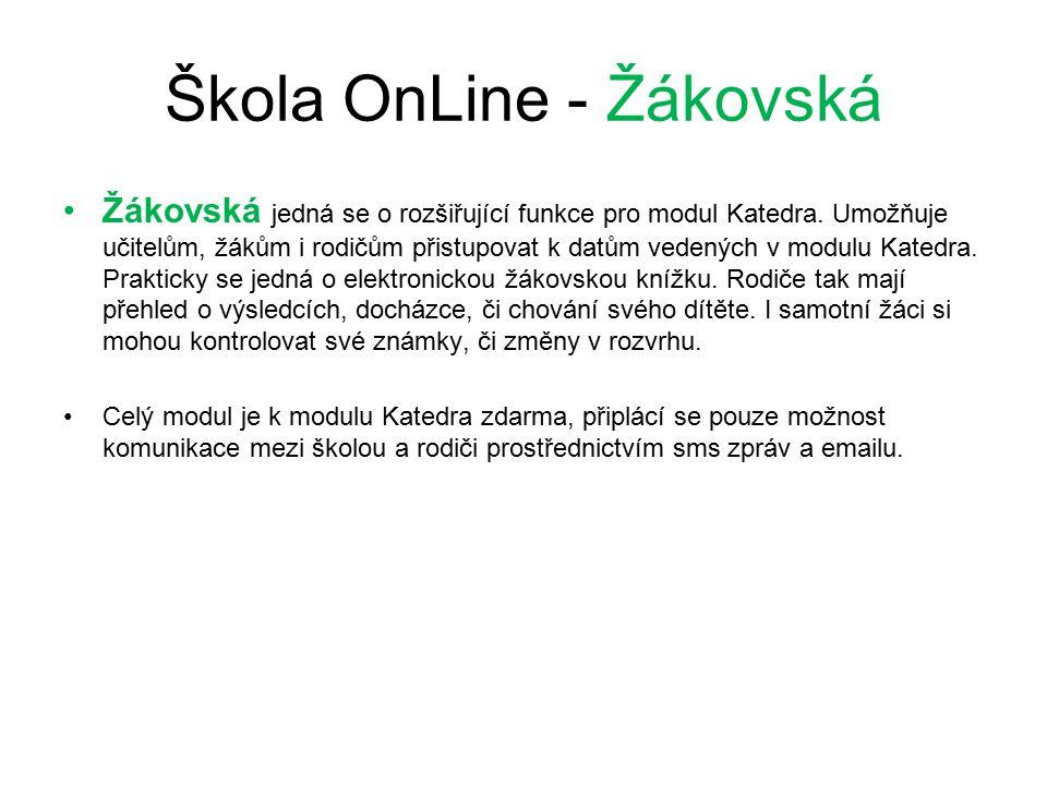 Škola OnLine - Žákovská