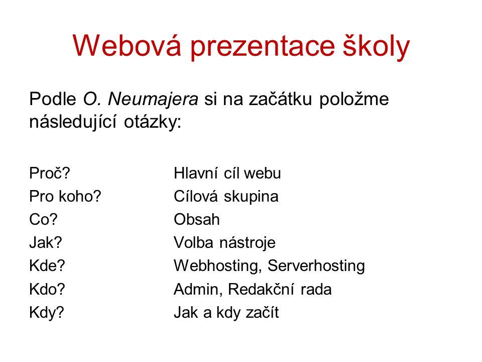 Webová prezentace školy