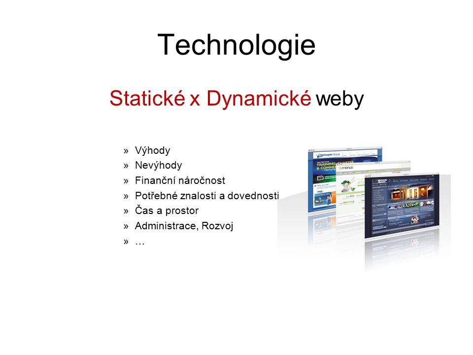 Statické x Dynamické weby