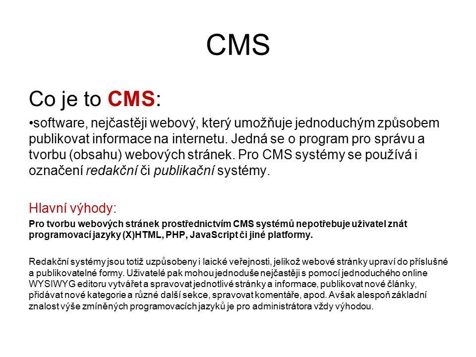 CMS Co je to CMS: