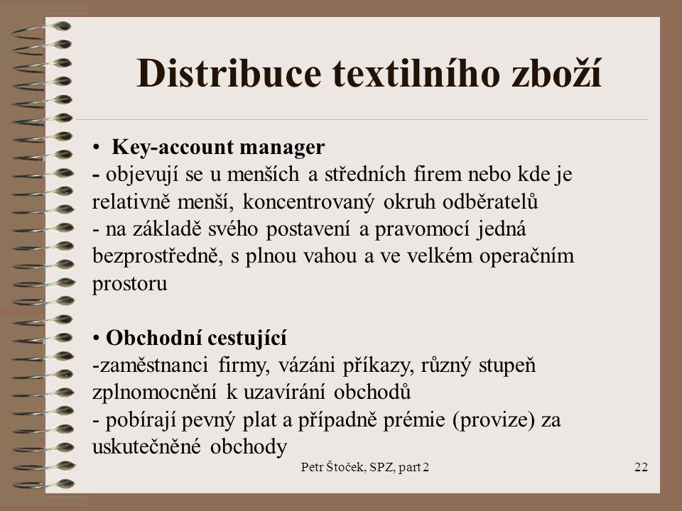 Distribuce textilního zboží