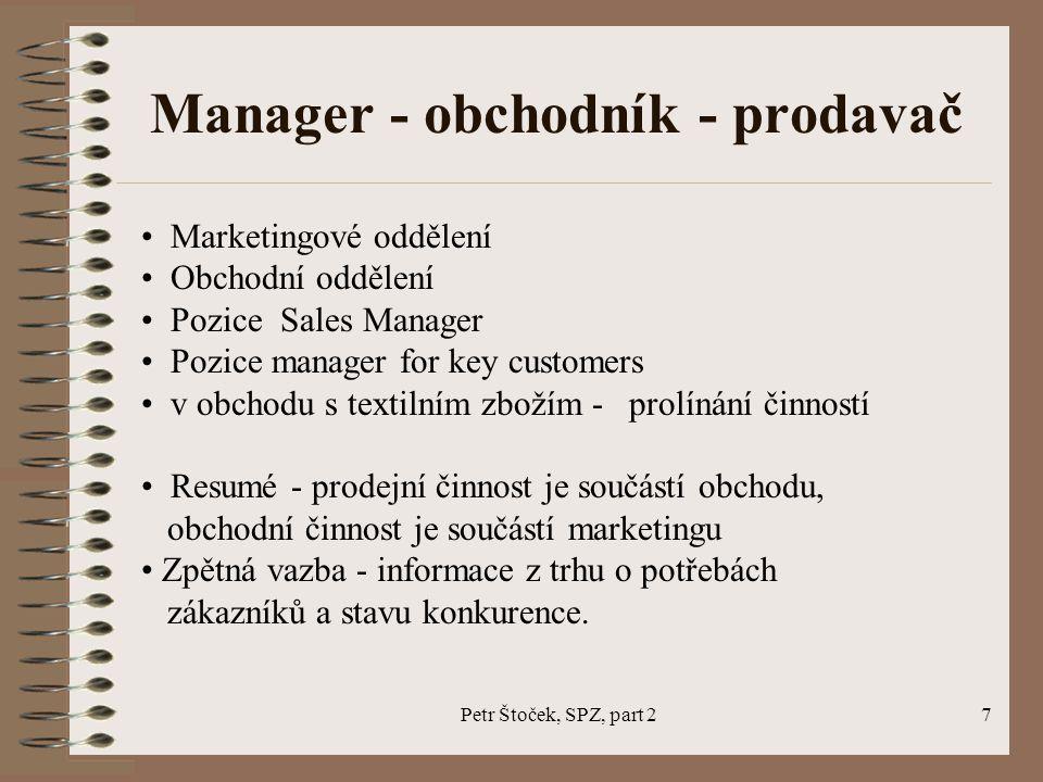 Manager - obchodník - prodavač