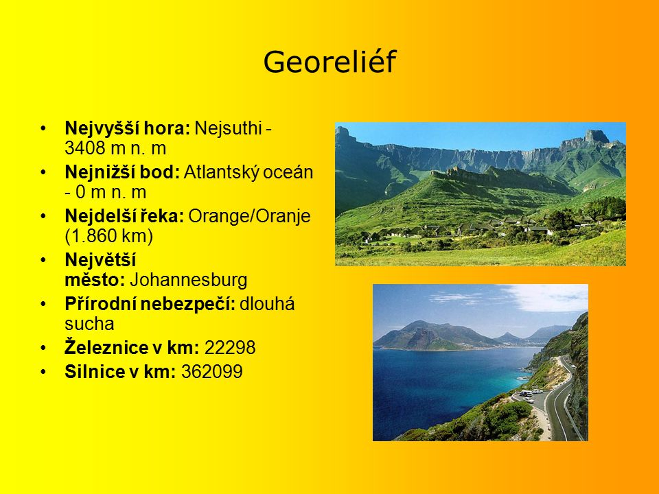 Georeliéf Nejvyšší hora: Nejsuthi - 3408 m n. m