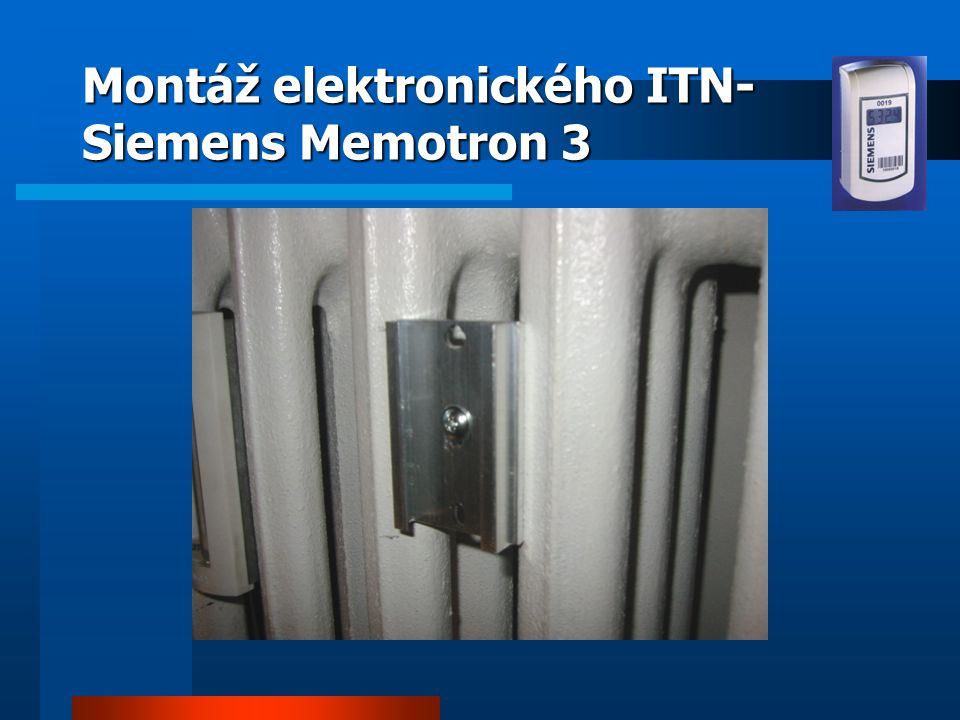 Montáž elektronického ITN-Siemens Memotron 3