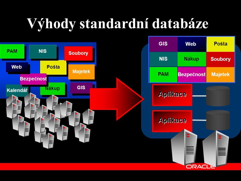 Výhody standardní databáze