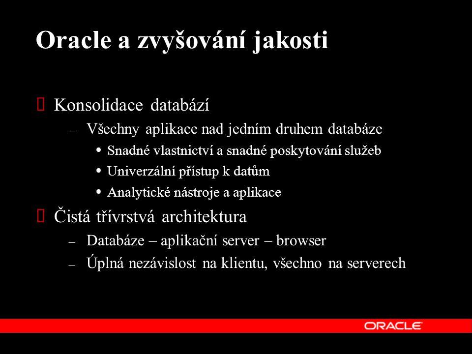 Oracle a zvyšování jakosti