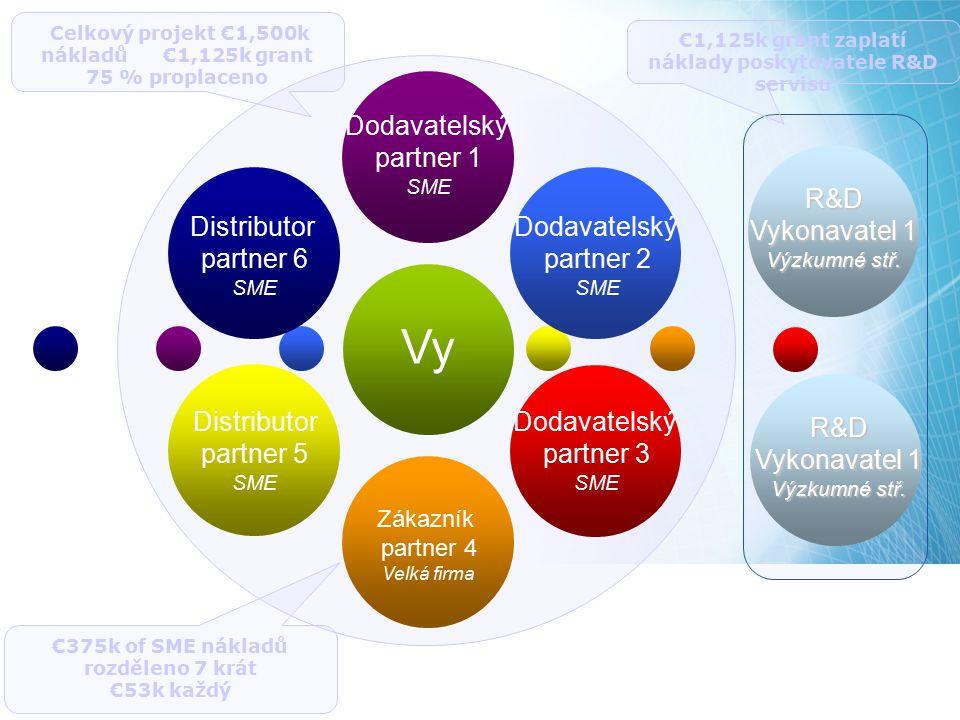 Vy Dodavatelský partner 1 R&D Vykonavatel 1 Distributor partner 6