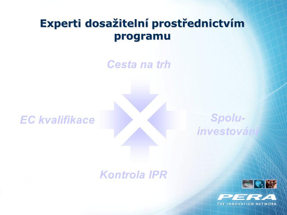 Experti dosažitelní prostřednictvím programu