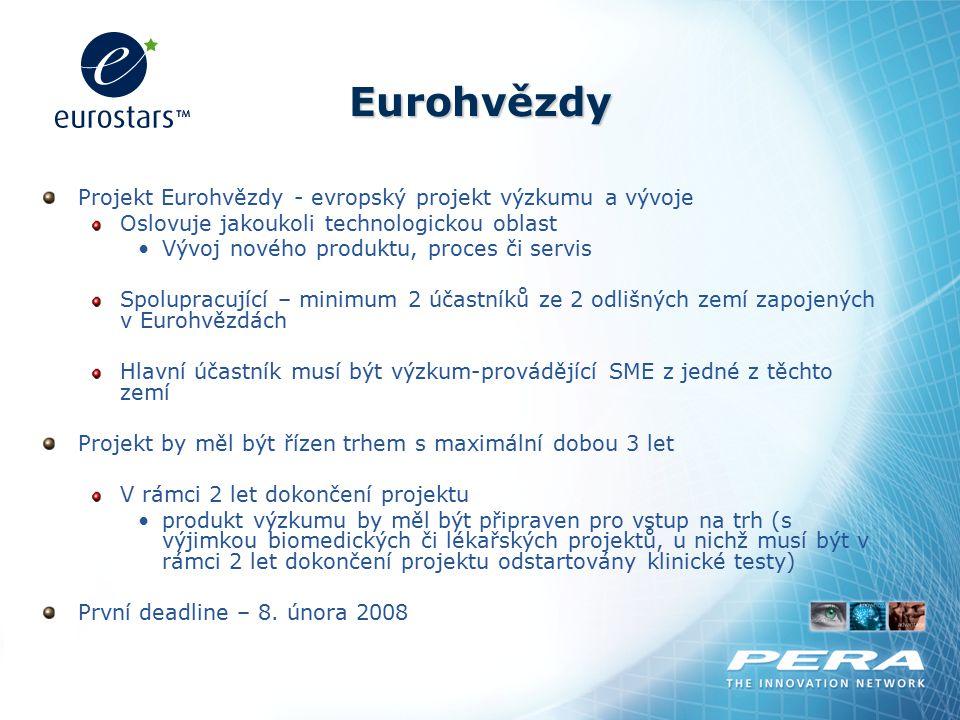 Eurohvězdy Projekt Eurohvězdy - evropský projekt výzkumu a vývoje